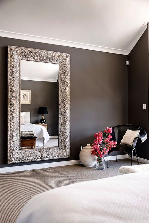 Large mirror in the bedroom