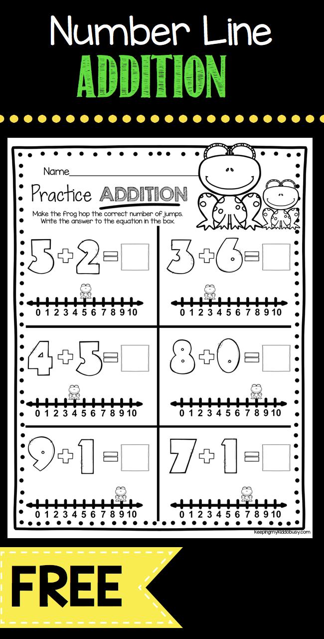 KINDERGARTEN addition practice - FREE worksheet - easy freebie to ...