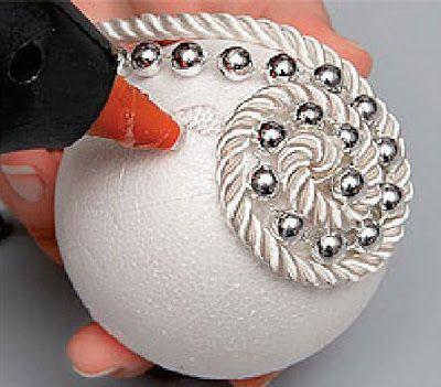 Styrofoam Balls Decorations Decorated Christmas Balls  Super Chic's   Christmas