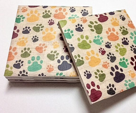 Dog Print Coasters - Dog Lover Gifts - Drink Coasters - Tile Coasters -Table Coasters On Sale