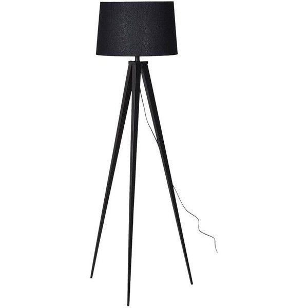 Neo Matt Black Tripod Floor Lamp 180 Liked On Polyvore Featuring Home Lighting Floor Lamps 3 Leg L Black Tripod Floor Lamp Tripod Lighting Tripod Floor