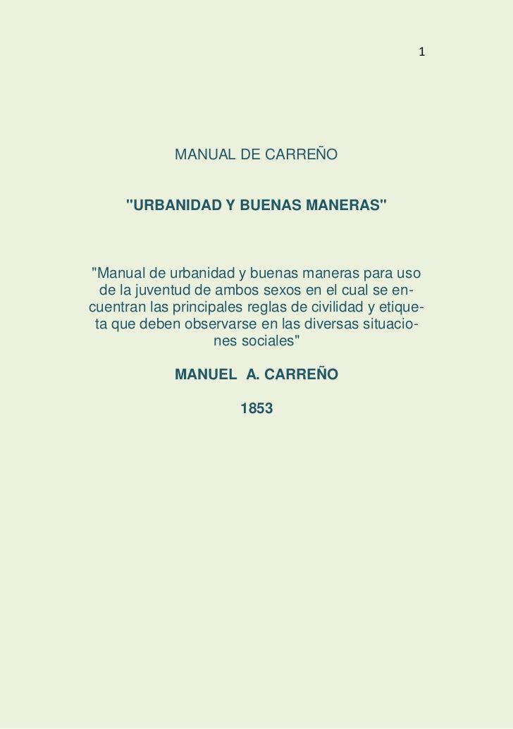 Manual de Carreño.
