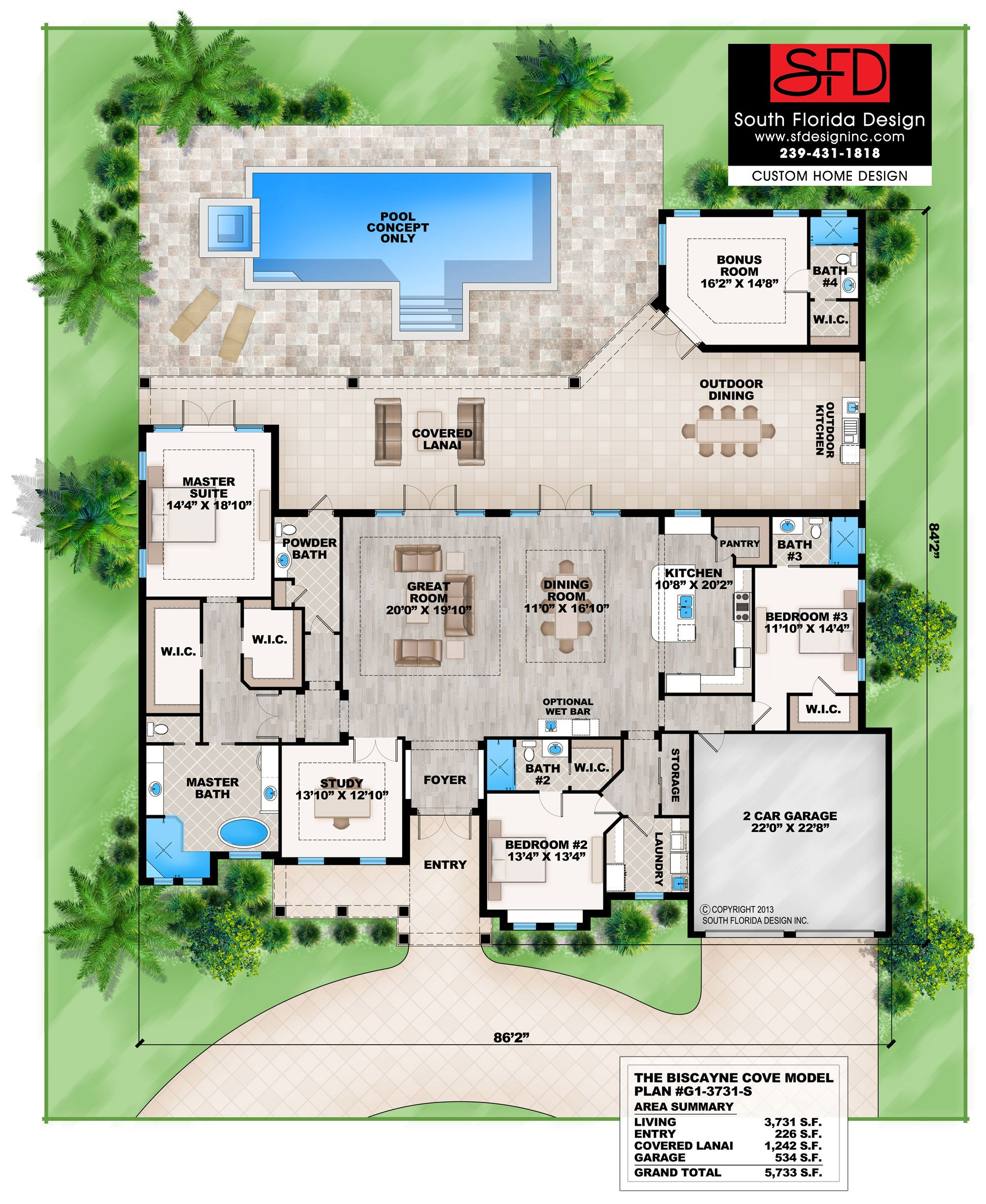 Biscayne Cove-This contemporary beach style house plan ... on florida house plans with pool, narrow lot house plans with pool, italian house plans with pool, ranch house plans with pool, beach house plans with pool,