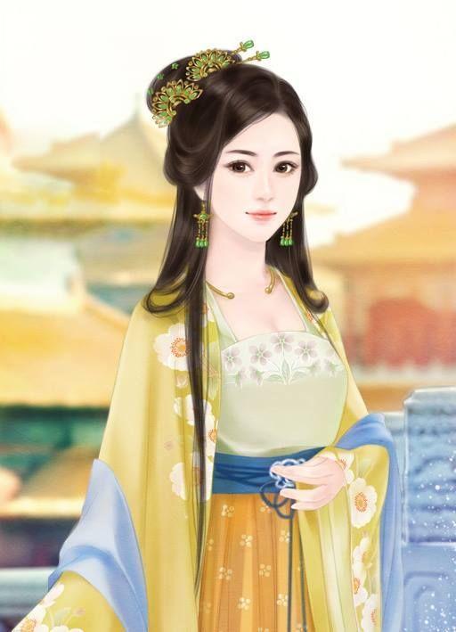 Chinese Hairstyle Pinthu Hương Trần On Tranh Cổ Trang  Pinterest