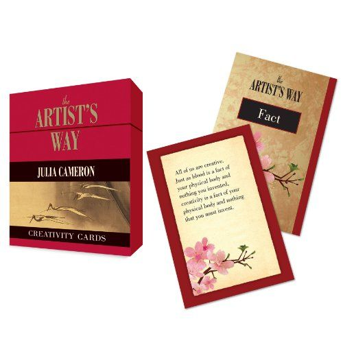 The Artist S Way Creativity Cards Tarcher Inspiration Cards By Julia Cameron Inspirational Cards The Artist S Way Holiday Stocking Stuffer