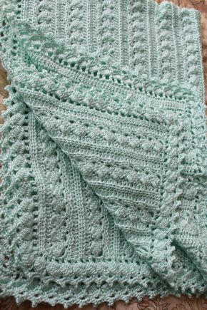 Baby blanket, crochet, 3 sizes, cable design, super soft quality ...
