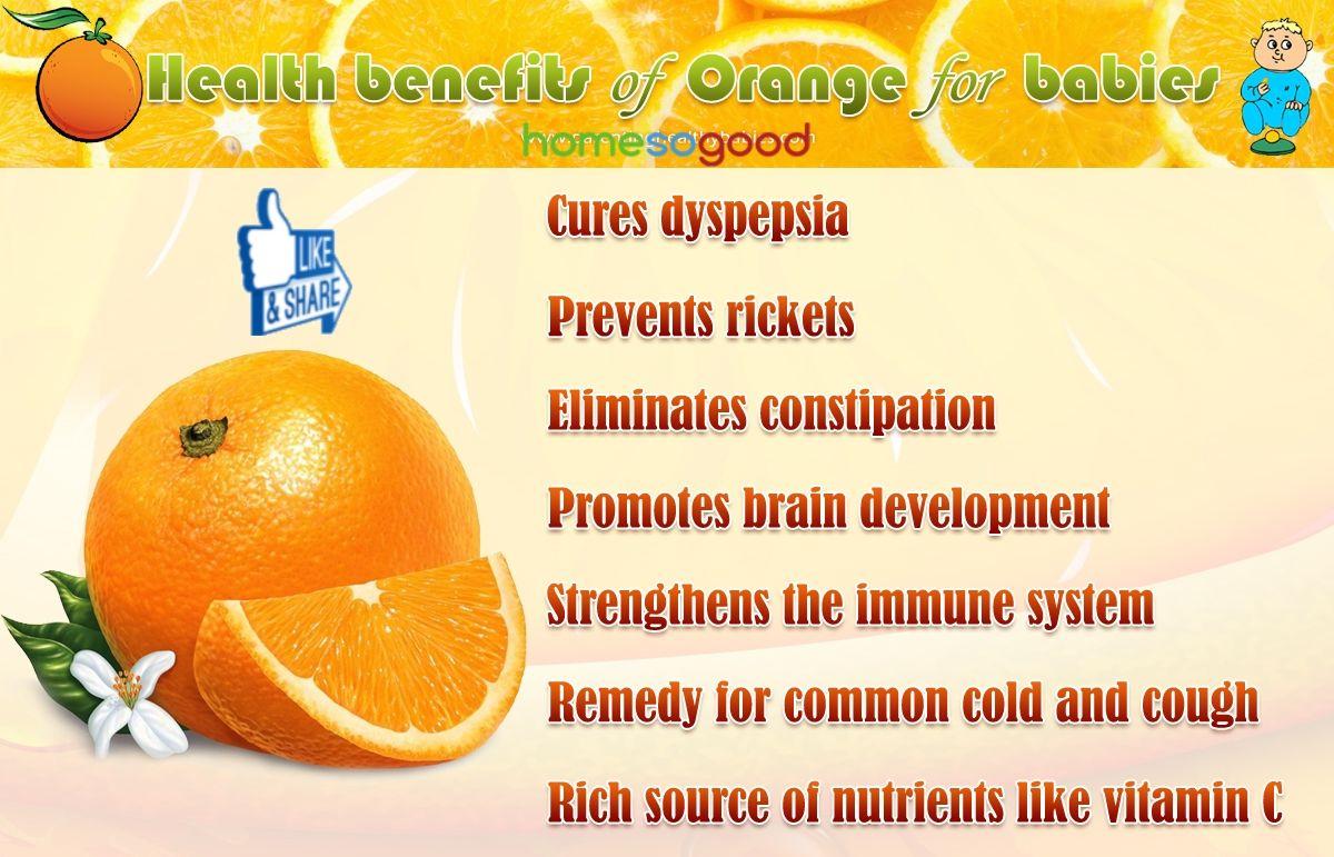 Health Benefits of Orange  for Babies