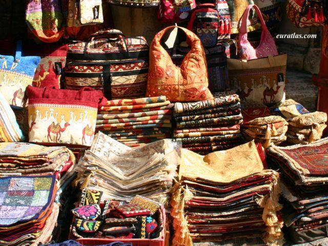 Foto Von Taschen Teppiche Und Kissen In Den Grossen Basar
