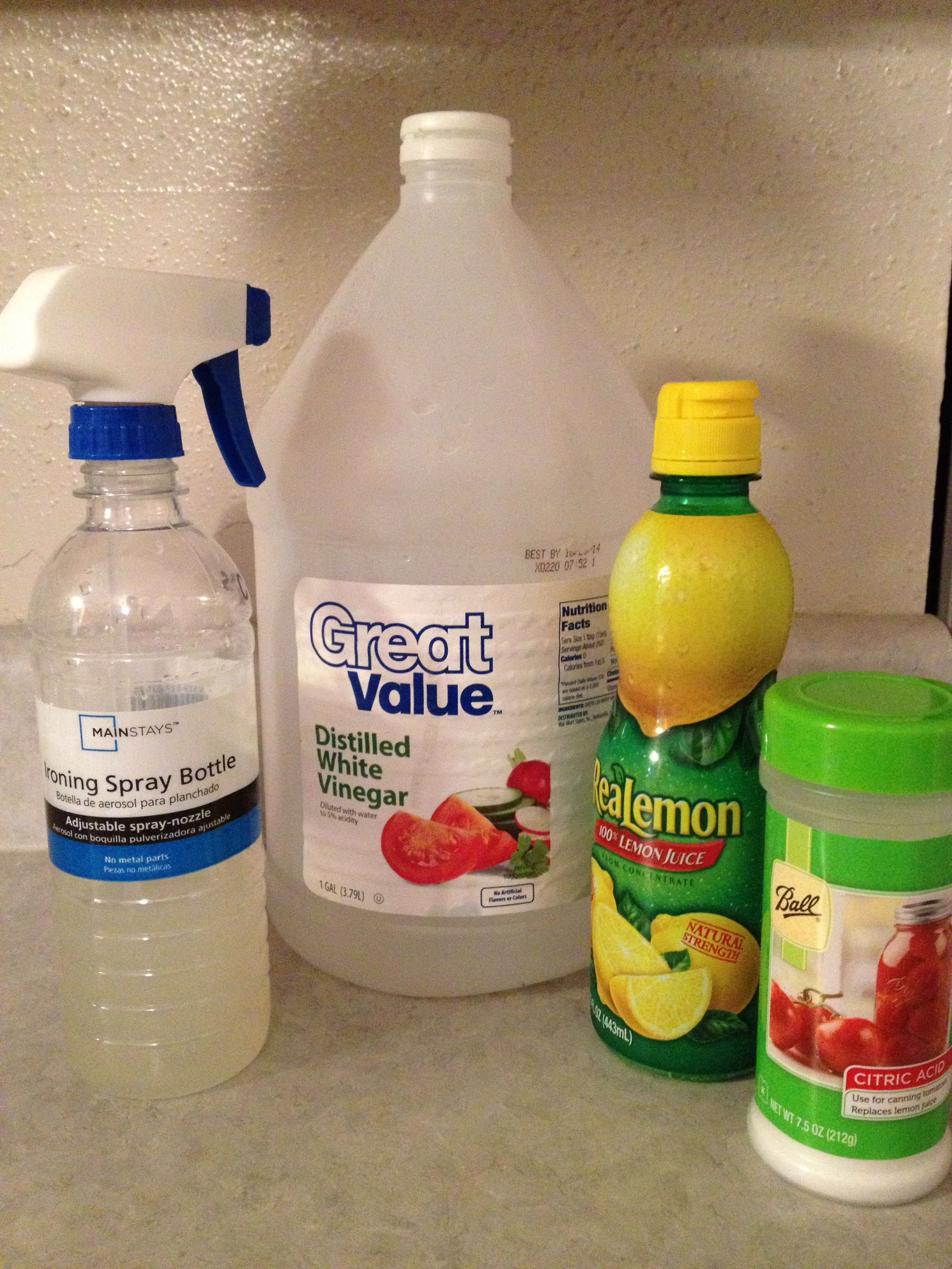 Super strength hard water deposit remover. I usually spray citric ...