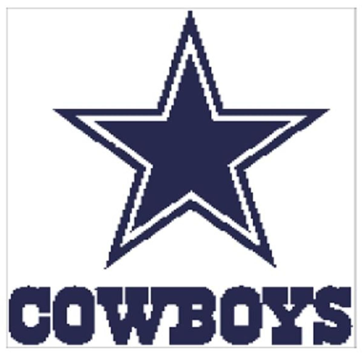 Dallas Cowboys Written Graph | dallas pattern | Pinterest | Bordado