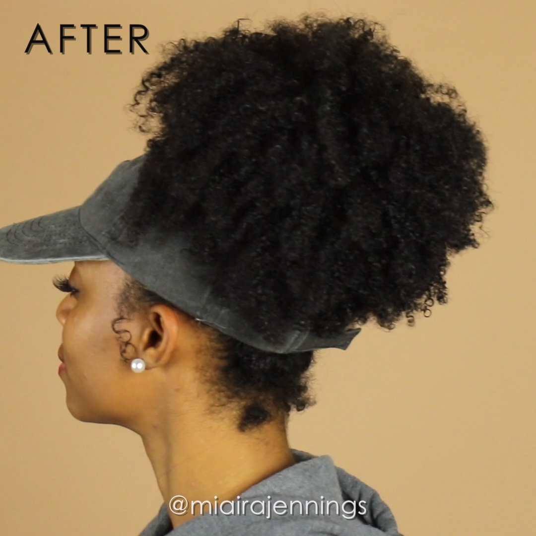 ddea9f165 Let your curls, puffs, ponytails and buns flourish with this DIY backless satin  lined hat for natural hair! #hair #hairstyle #naturalhair #hat #DIY  #fashion ...