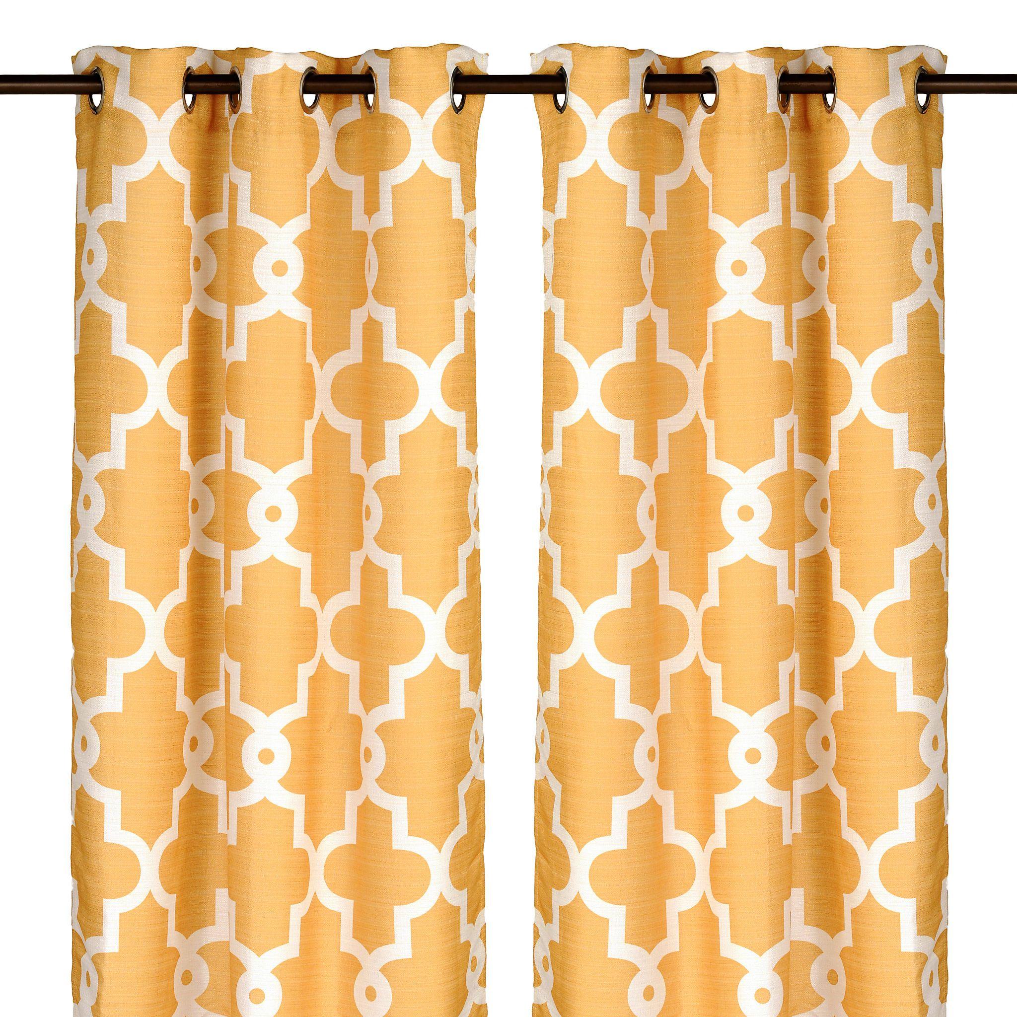 Marigold Maxwell Curtain Panel Set, 84 in | Marigold, Window ...