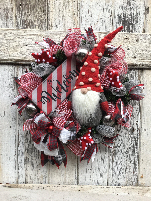 Christmas Gnome Decor.Pin On Wreaths