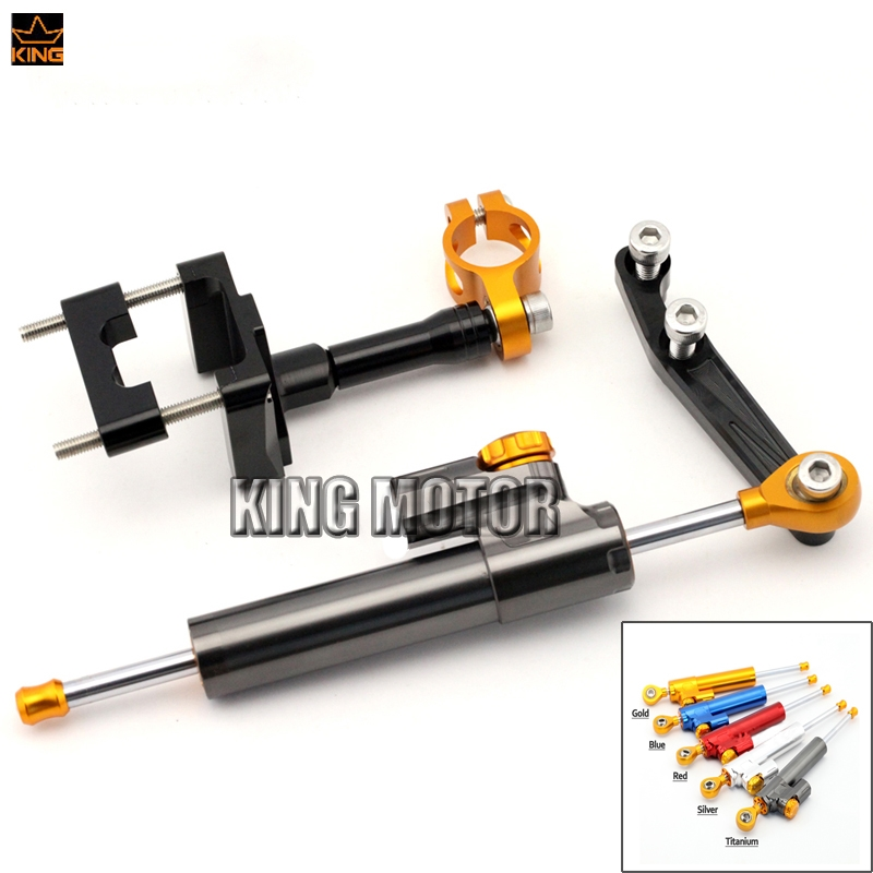 69.99$  Buy here - http://ai3v0.worlditems.win/all/product.php?id=32782176981 - For KAWASAKI EX250R NINJA 250 08-13 NINJA300 13-16 Motorcycle Steering Damper Stabilizer Adjustable Linear with Bracket Kit