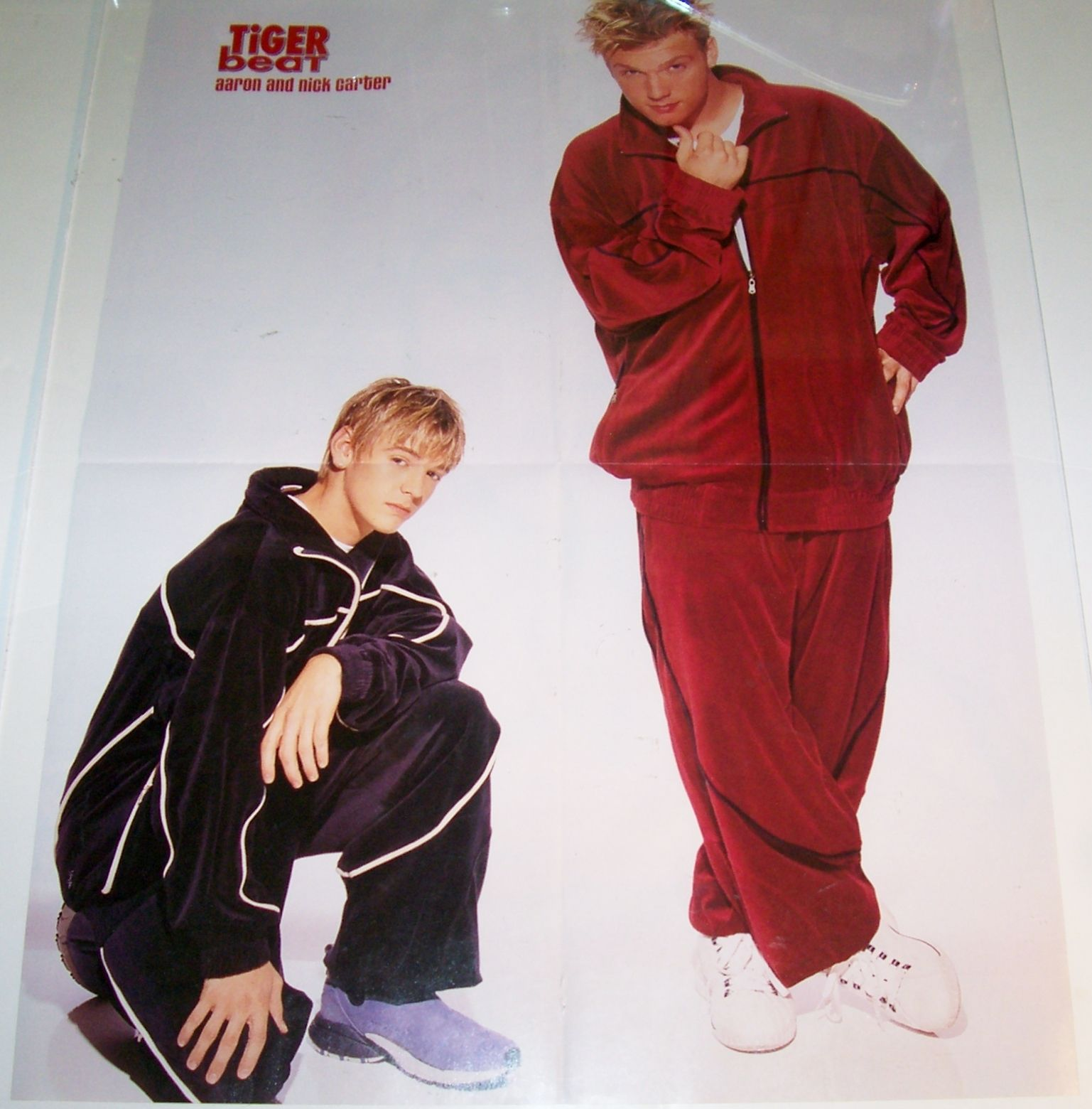 Tiger Beat - Nick and Aaron (http://www.ebay.com/itm/AARON-NICK-CARTER-BRITNEY-SPEARS-BLOND-TEEN-BOY-21-x16-MAGAZINE-POSTER-/251101886000?pt=Art_Photo_Images=item3a76d6b630)