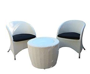 Set de mesita de centro y 2 sillones Lotus