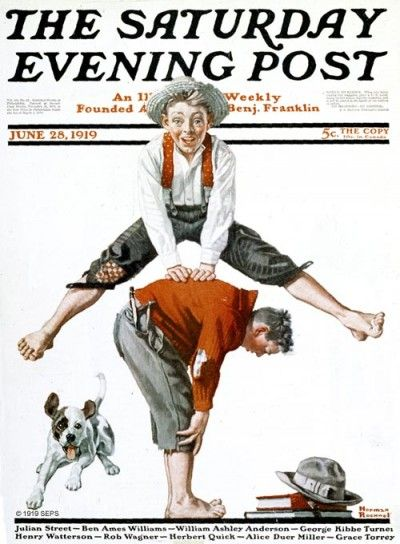 Leapfrog  By: Norman Rockwell  From June 28, 1919