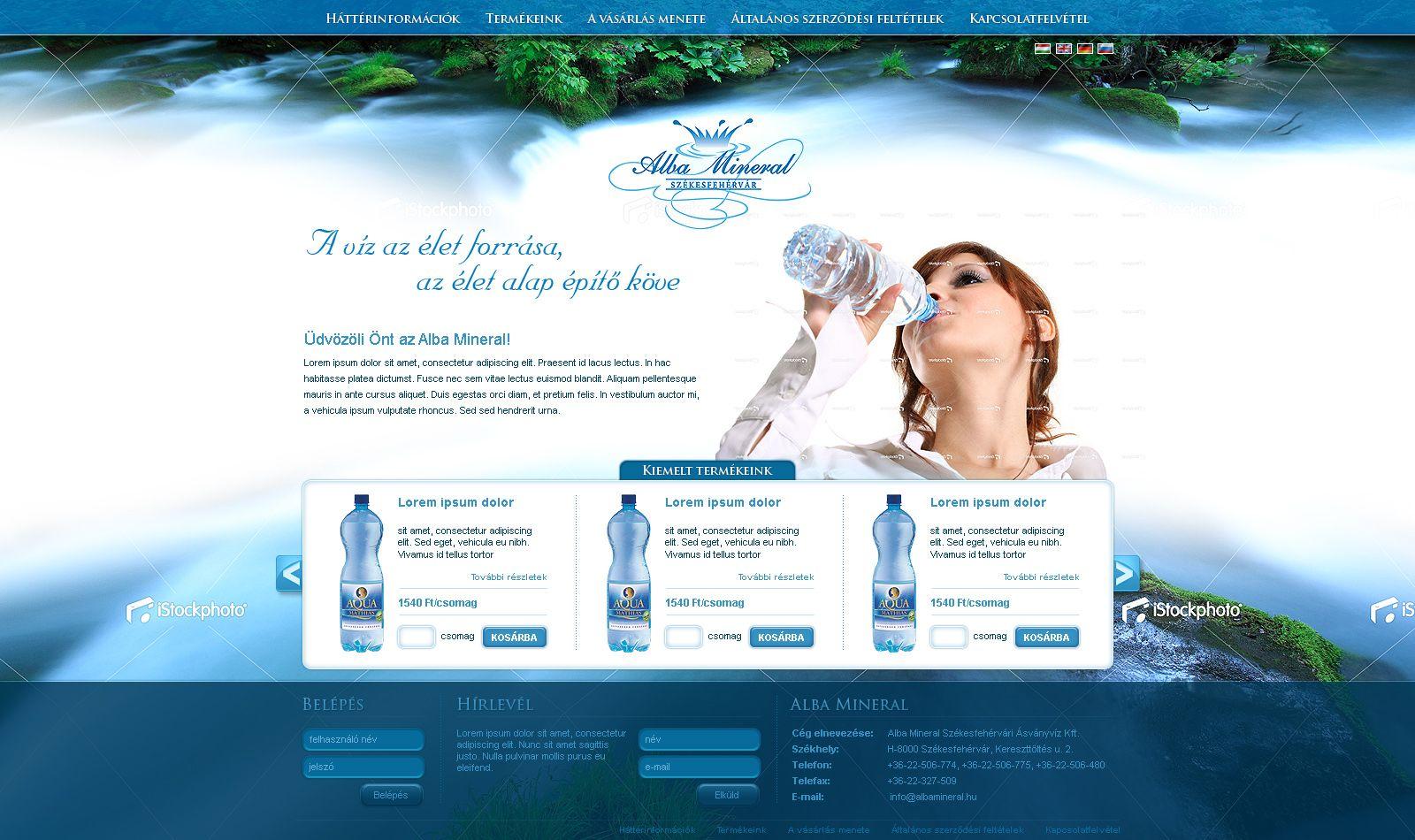 Albamineral+weboldal+terv+by+VictoryDesign.deviantart.com+on+@ ...