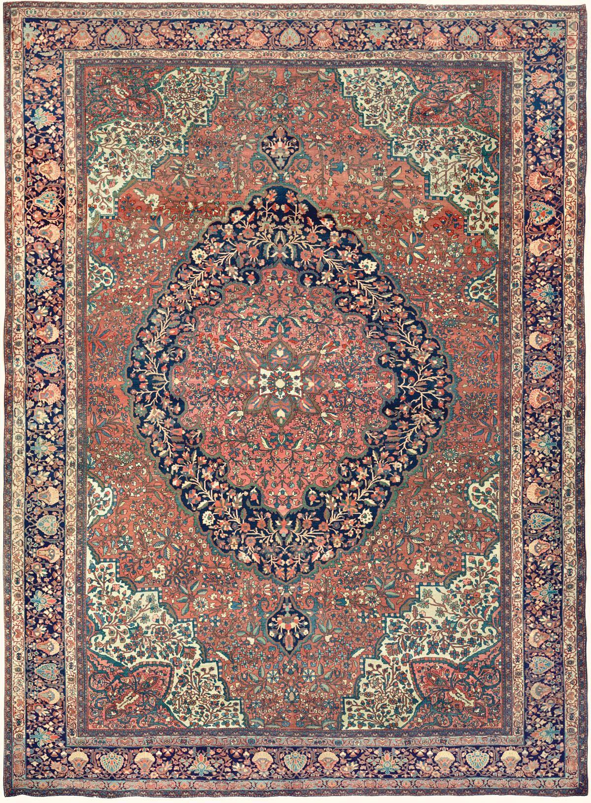 19th Century Ferahan Sarouk Oriental Room Size Carpet