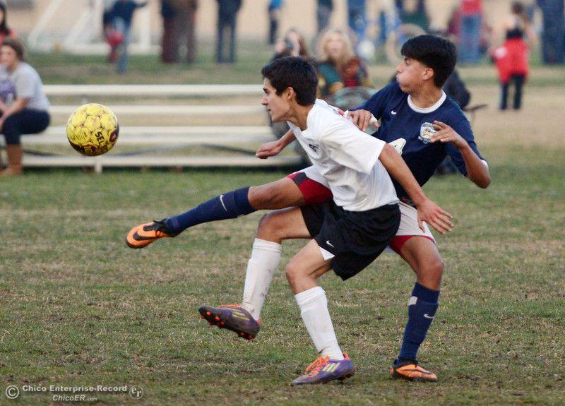 Chico High's #7 Claudio Quezada (left) battles against