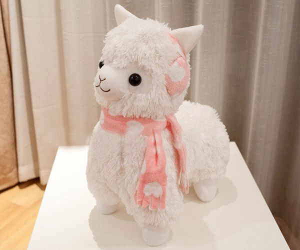 Amigurumi Alpacasso : Cm big arpakasso alpacasso alpaca plush toy white headset
