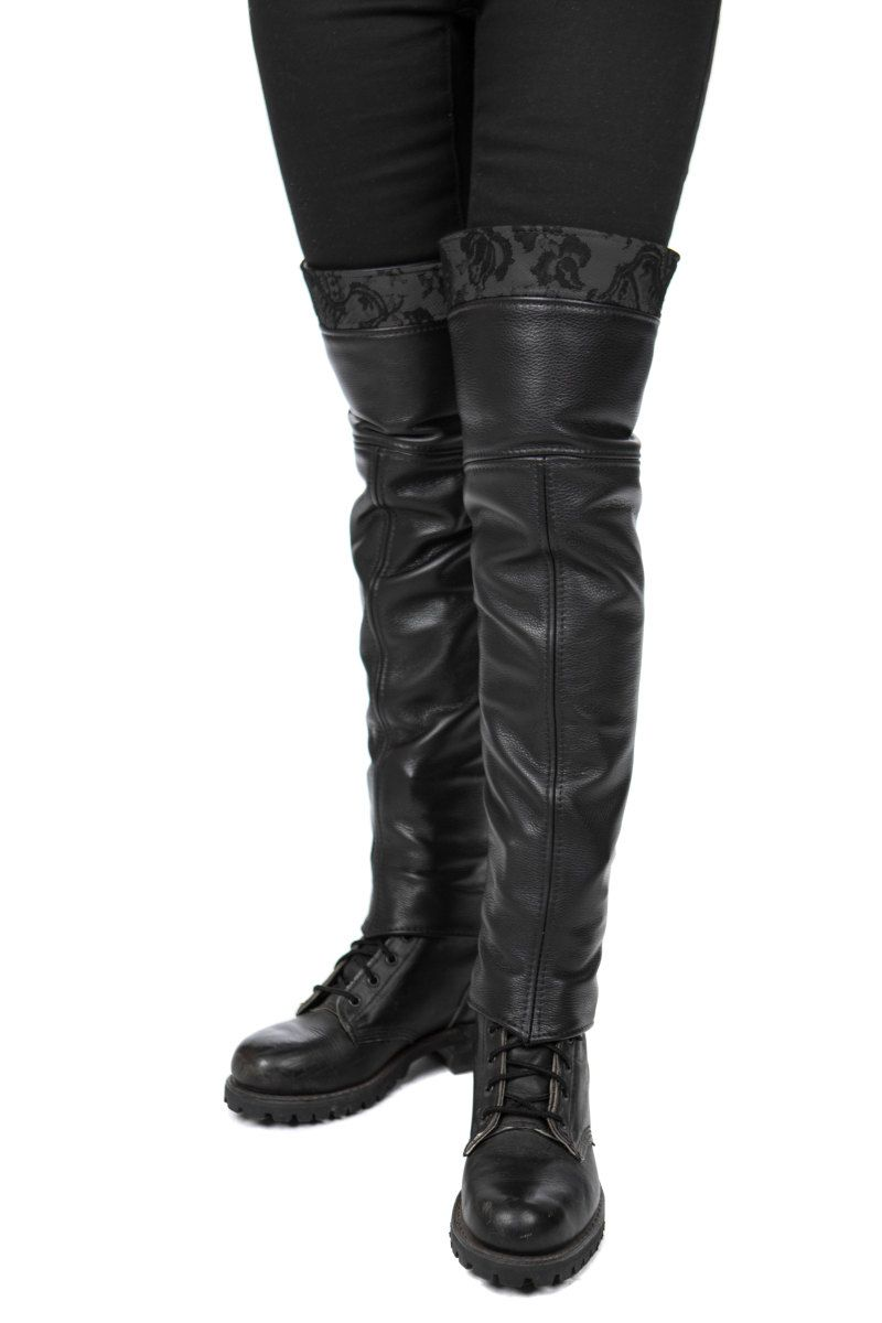 29fd49e7558 Leather & Lace Thigh High Half Chaps in 2019 | Eyes to see | Leather ...