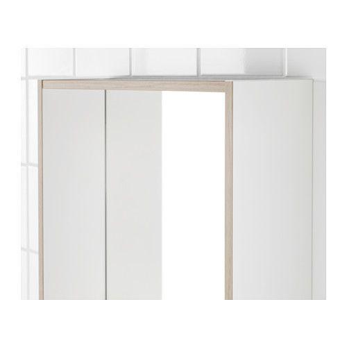 TYNGEN Spiegel mit Ablage, weiß, Eschenachbildung Spiegel mit - badezimmerspiegel mit ablage