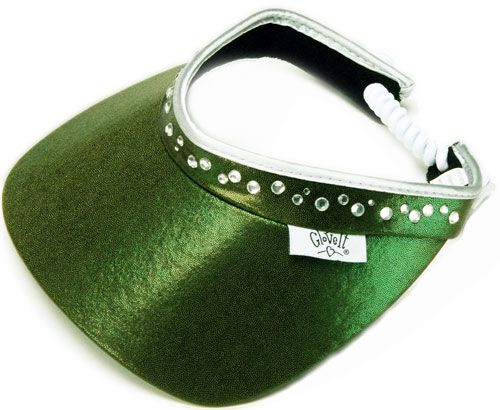Glove It Ladies Bling Golf Visors (w Twist Cord) - Olive (Green ... 5f70ed5091a