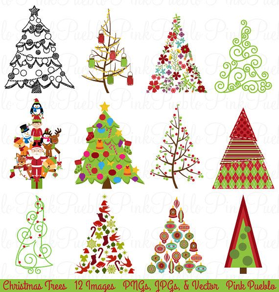 christmas tree clipart clip art christmas holiday decor clipart rh pinterest com christmas holiday clipart free christmas holiday clipart images