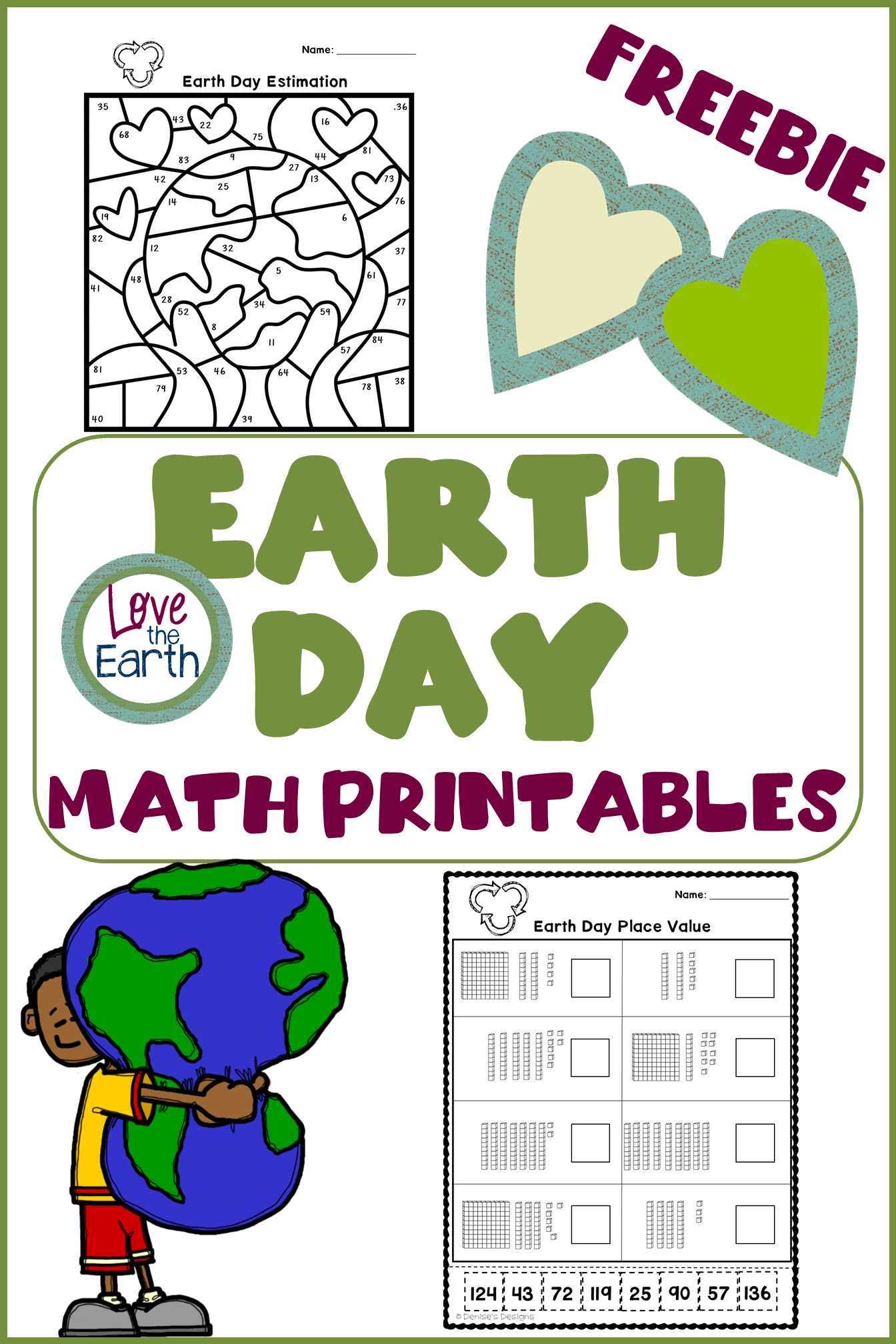 Celebrate Earth Day With Free Math Worksheets To Be Used As Morning Work Or An Interactive Notebook Math Printables Science Activities For Kids Math Freebie [ 2016 x 1344 Pixel ]