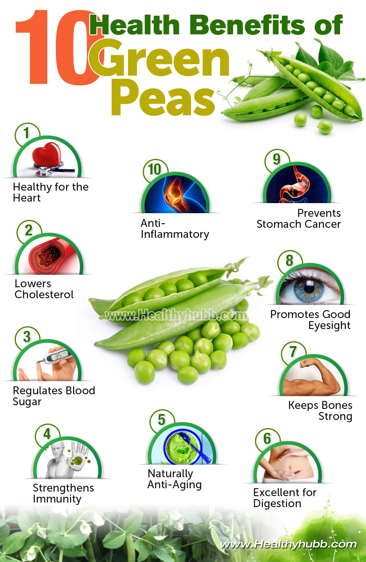 10 health benefits of green peas! | coconut health benefits