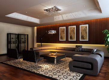 Utra Modern Tray Ceiling 22 782 Modern Living Room