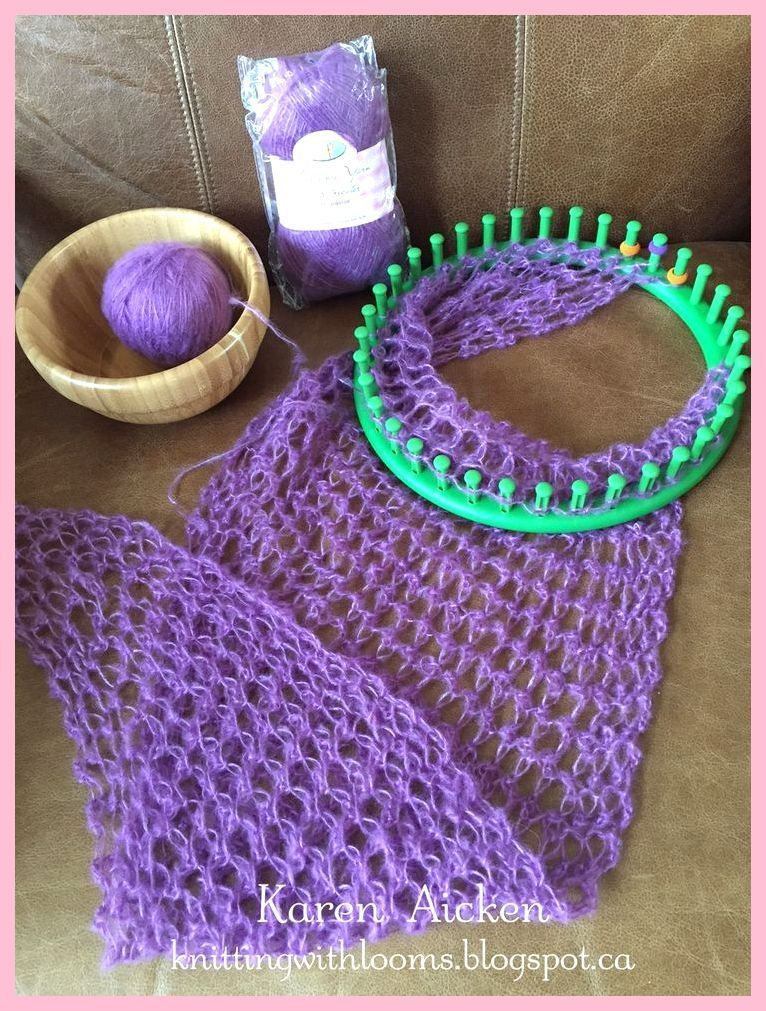 Double Loom Knitting Fish Scale Stitch By 2