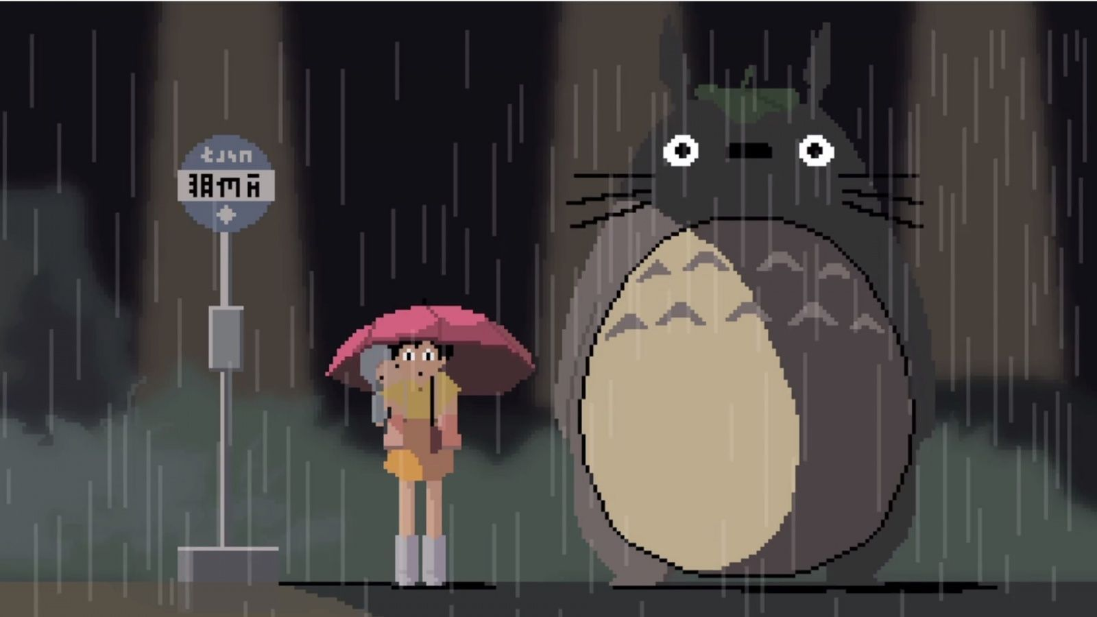 My Neighbor Totoro Bus Stop Wallpaper Google Search With Images