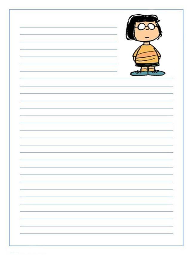 Imprime gratis papel para escribir cartas infantil para niños de ...