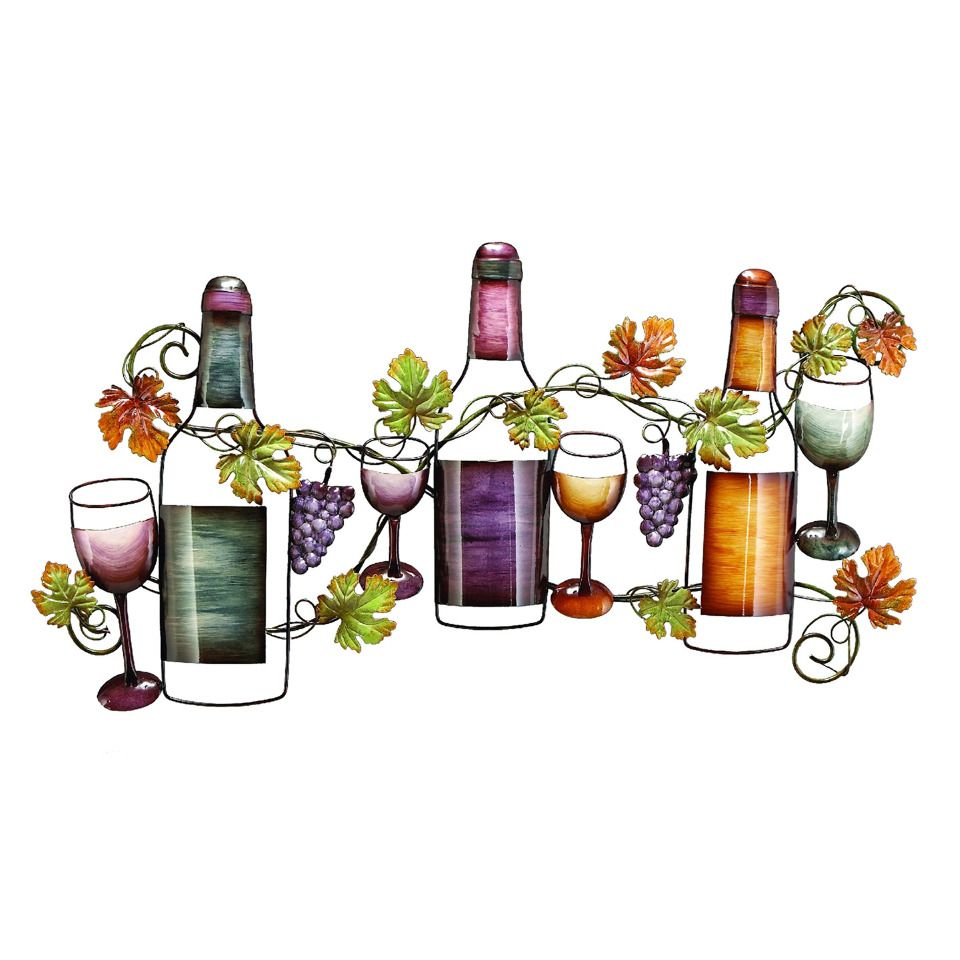 Uma grapes and vines wine wall decor i would put this in for Wall decor wine bottles