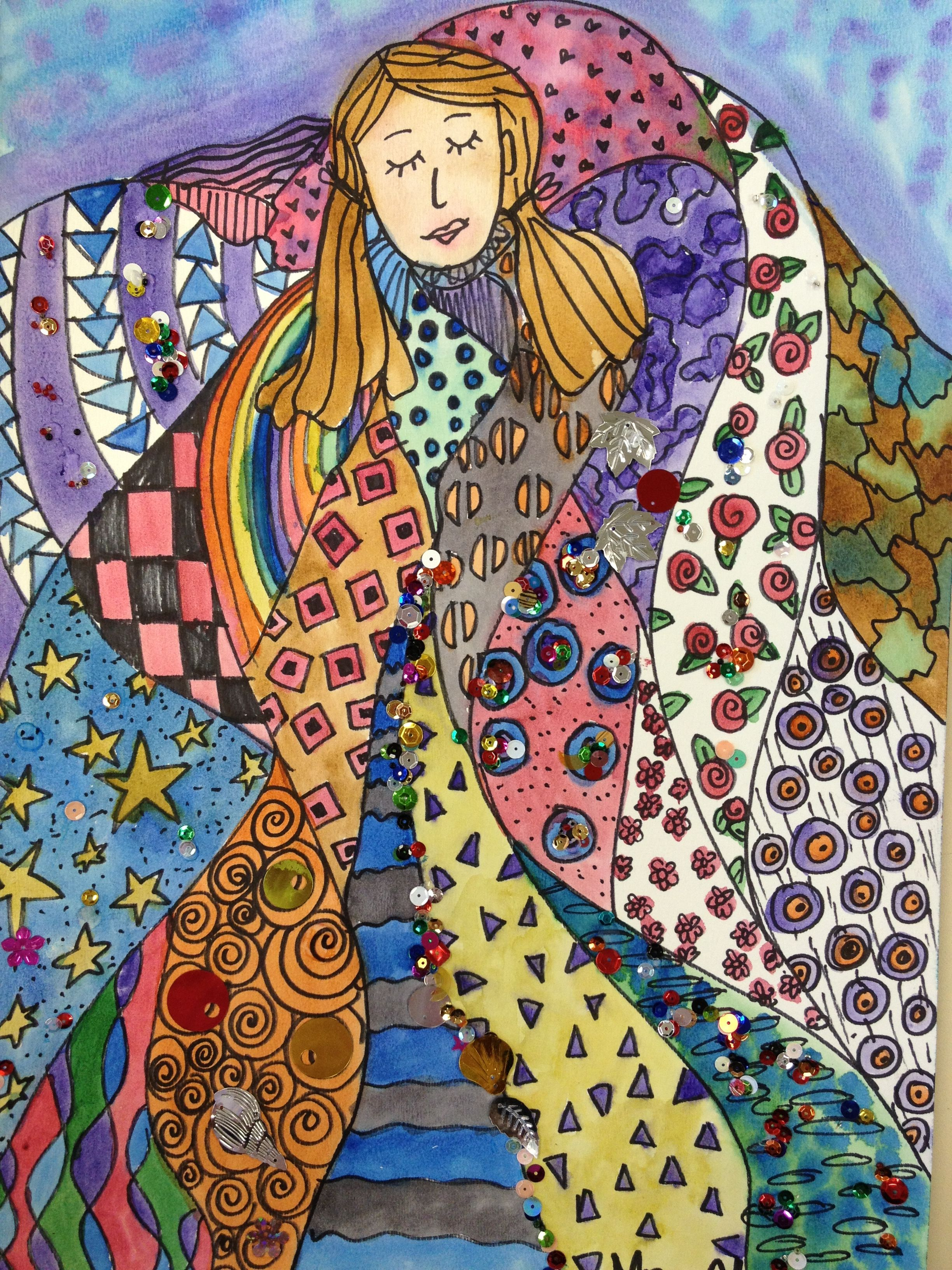 Klimt Line Shape Pattern Color
