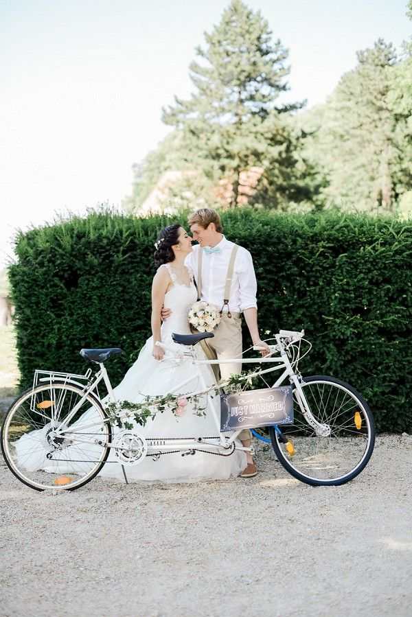 La Chartreuse De Pomier Wedding Full Of Love French Wedding Style Bike Wedding Bicycle Wedding Bike Wedding Decor