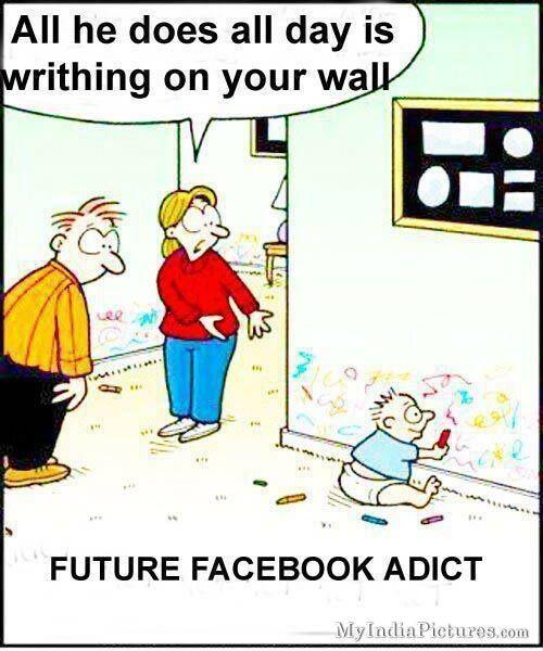funnyfacebookaddictbabychildcartoon.jpg (500×600