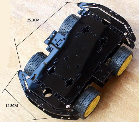 4WD V7 Smart Car Chassis Robot - Robot - Arduino, 3D
