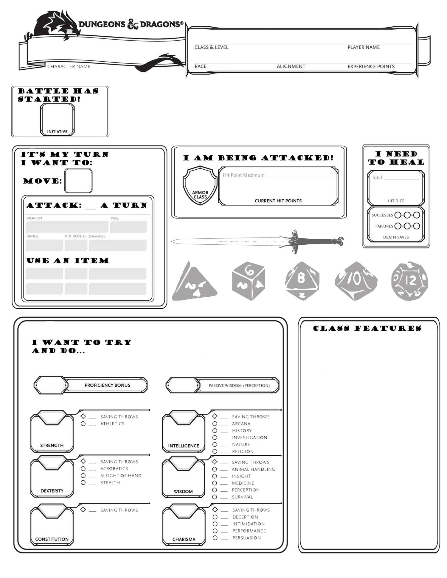 Cleaneasysheet Pdf With Images Dnd Character Sheet Character