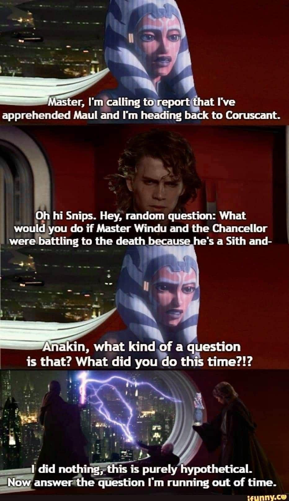 Ashore Coulda Stopped Him Star Wars Jokes Star Wars Humor Star Wars Memes