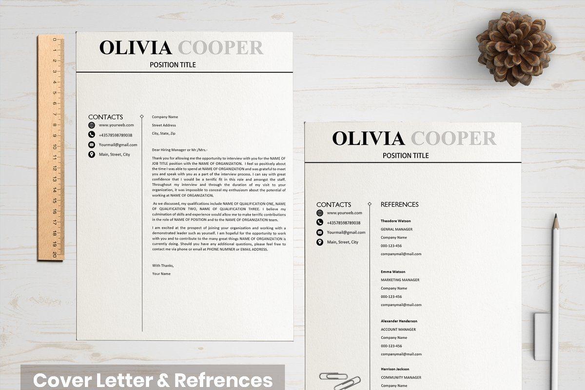Creative Resume Template in 2020 Resume template, Resume