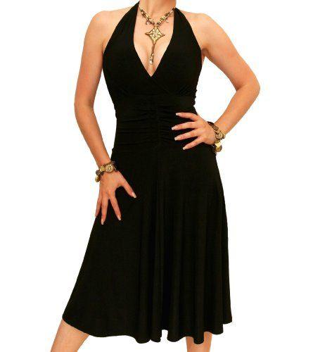 Black Halter Tie Cocktail Dresses