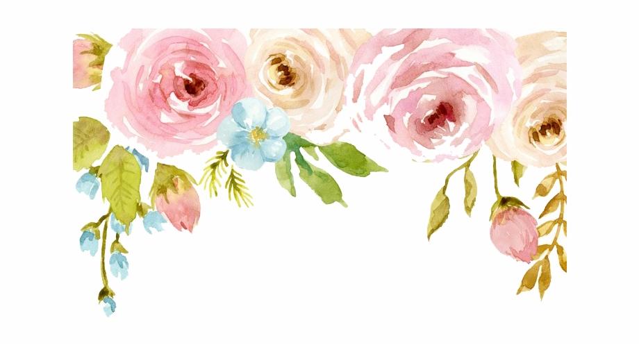 Floral Watercolor Png Watercolor Flowers Png Free Download Pink Watercolor Flowers Png Flower Border Png Flower Clipart Png Flower Clipart