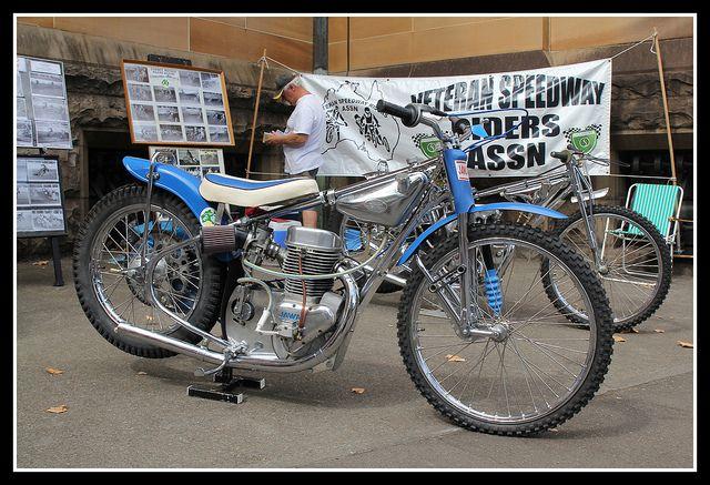 Speedway Motorcycle Racing Bikes: Vintage Jawa Speedway Bike.