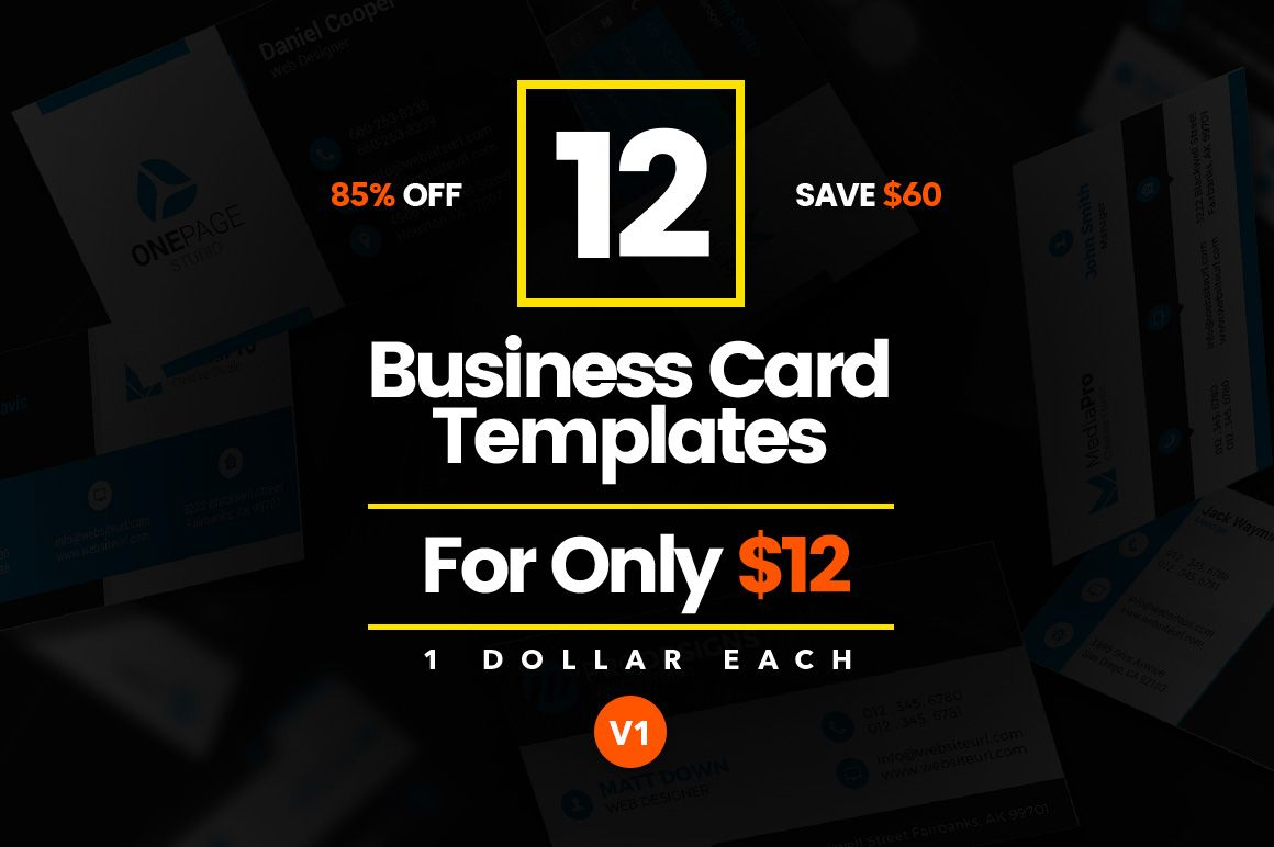 12 Modern Business Cards - Bundle v1 by Made by Arslan on @creativemarket