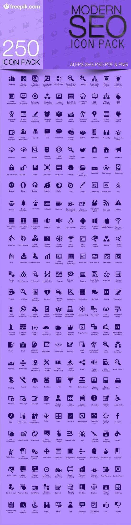 Free Download Modern Seo Icon Pack Web Design Freebies Design Freebie Web Design