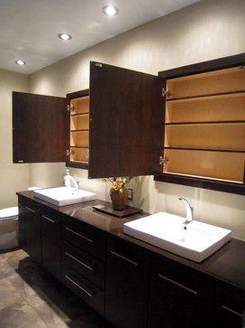 Bathroom Recessed Mirror Luxury Master Bathrooms Medicine
