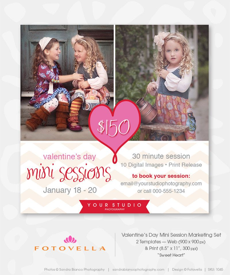 Valentine S Day Mini Session Photography Template Photography